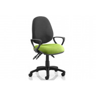 Solar Two Tone 3 Lever Fabric Chair (Fixed Arms)