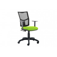 Lunar Plus 2 Lever Mesh Back Operator Chair (Adjustable Arms)