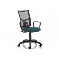 Lunar 2 Lever Mesh Back Operator Chair (Fixed Arms)