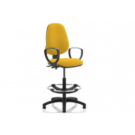 Lunar 2 Lever Draughtsman Chair (Fixed Arms)