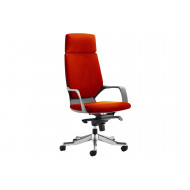 Russo Medium Back Executive Chair With Headrest (Black Shell)