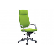 Russo Medium Back Executive Chair With Headrest (White Shell)