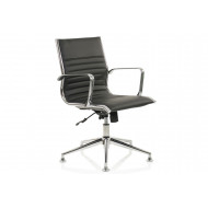 Alcoa Medium Back Bonded Leather Chair With Glides