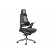 Zephyr Mesh Back Executive Operator Chair With Headrest (Black)