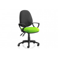 Solar Two Tone 2 Lever Fabric Chair (Fixed Arms)
