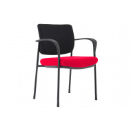 Arda 2 Tone Fabric Conference Chair (Black Frame)