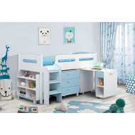 Olivia Cabin Bed With Study Desk (Blue)