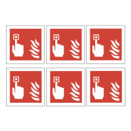 Sheet Of Safety Labels (Fire Alarm Call Point)