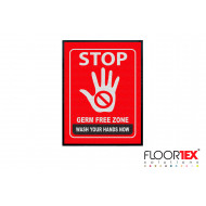 Germ Free Zone - Wash Your Hands Workplace Mat
