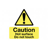 Caution Hot Surface Do Not Touch Safety Label Multipack
