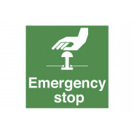 Emergency Stop Safety Label Multipack
