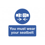You Must Wear Your Seatbelt Safety Label Multipack