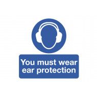 You Must Wear Ear Protection Safety Label Multipack