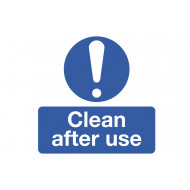 Clean After Use Safety Label Multipack