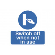 Switch Off When Not In Use Safety Label Multipack