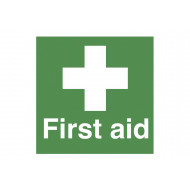 First aid safety label multipack