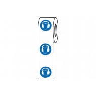 Ear Protection Symbol Safety Labels On A Roll