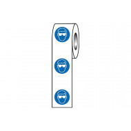 Eye Protection Symbol Safety Labels On A Roll
