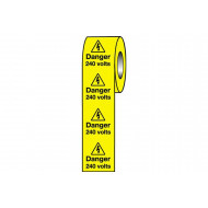 Danger 240 Volts Safety Labels On A Roll