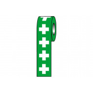 First Aid Symbol Safety Labels On A Roll