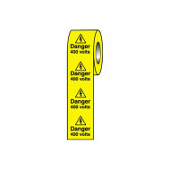 Danger 400 Volts Safety Labels On A Roll