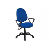 Next-Day Full Lumbar 2 Lever Operator Chair With Fixed Arms