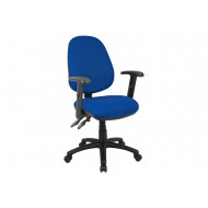Next-Day Full Lumbar 2 Lever Operator Chair With Adjustable Arms