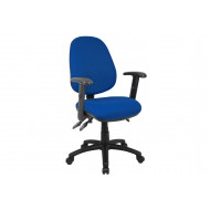 Next-Day Full Lumbar 3 Lever Operator Chair With Adjustable Arms