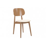 Albano Oak Dining Chair With Faux Leather Seat