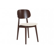Albano Walnut Dining Chair With Faux Leather Seat
