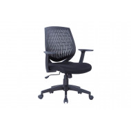 California Medium Back Operator Chair With Black Moulded Plastic  Backrest