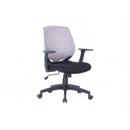California Medium Back Operator Chair With Grey Moulded Plastic  Backrest