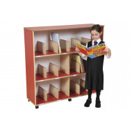 Drywipe Back Bookcase