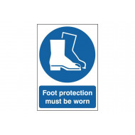 Foot Protection Must Be Worn Safety Sign
