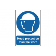 Head Protection Must Be Worn Safety Sign