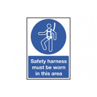 Safety Harness Must Be Worn In This Area Safety Sign