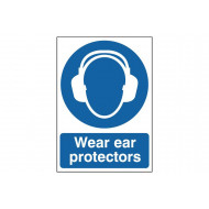 Wear Ear Protectors Safety Sign