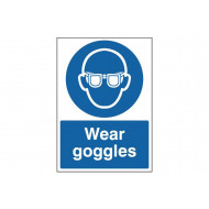 Wear goggles safety sign