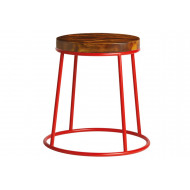 Next-Day Mulluna Low Stool With Wooden Seat