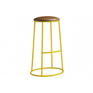 Next-Day Mulluna High Stool With Upholstered Seat