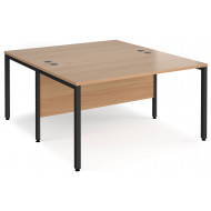 Value Line Deluxe Bench Back to Back Rectangular Desks (Black Legs)