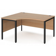Value Line Deluxe Bench Left Hand Ergo Desks (Black Legs)