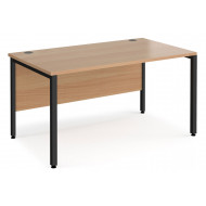 Value Line Deluxe Bench Rectangular Desks (Black Legs)