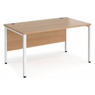Value Line Deluxe Bench Rectangular Desks (White Legs)