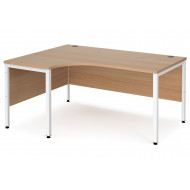 Value Line Deluxe Bench Left Hand Ergo Desks (White Legs)