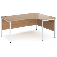 Value Line Deluxe Bench Right Hand Ergo Desks (White Legs)