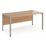 Value Line Deluxe Bench Rectangular Desks (Silver Legs)
