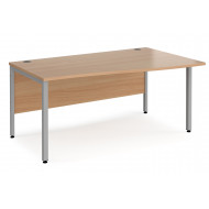 Value Line Deluxe Bench Right Hand Wave Desks (Silver Legs)