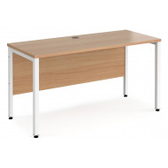 Value Line Deluxe Bench Narrow Rectangular Desks (White Legs)