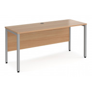 Value Line Deluxe Bench Narrow Rectangular Desks (Silver Legs)